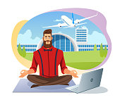 Easy Airline Tickets Booking Flat Vector Concept