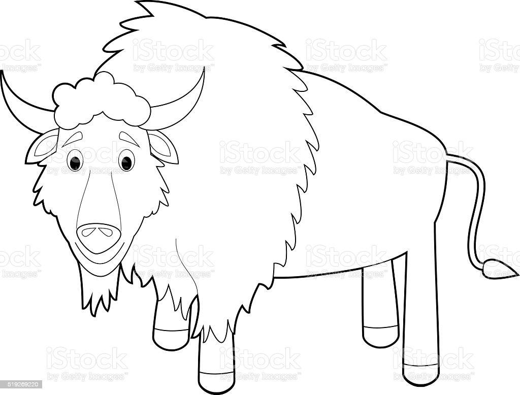 Ilustración de Fácil Los Animales Para Colorear Con Los Niños Búfalo ...