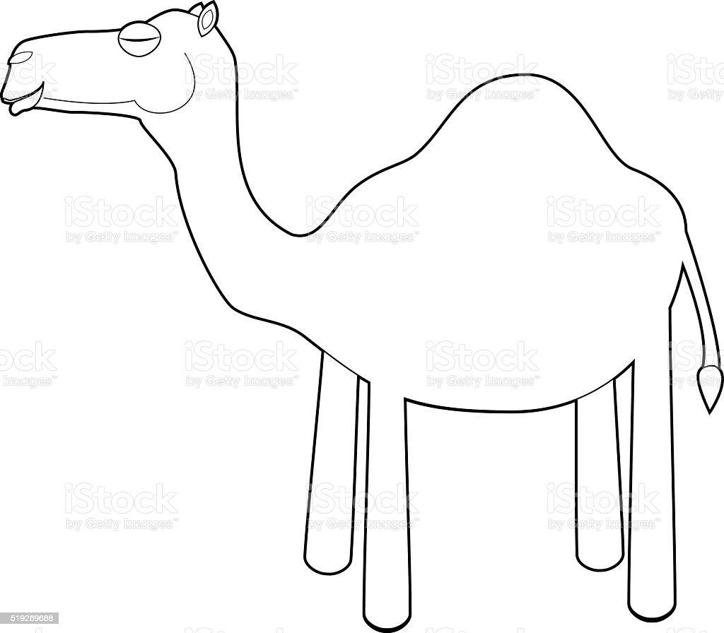 Fácil Los Animales Para Colorear Con Los Niños Camello - Arte ...