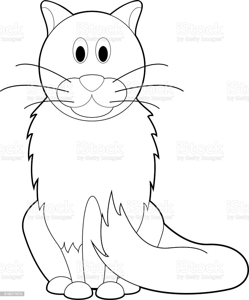 easy coloring animals for kids cat stock vector art 519271574 istock