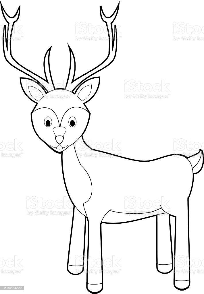 Ilustración de Fácil Los Animales Para Colorear Con Los Niños Ciervo ...