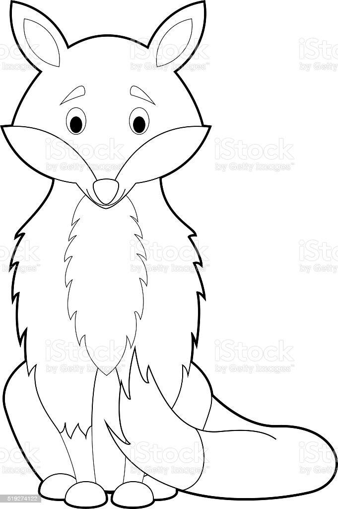 Ilustración de Fácil Los Animales Para Colorear Con Los Niños Hacer ...