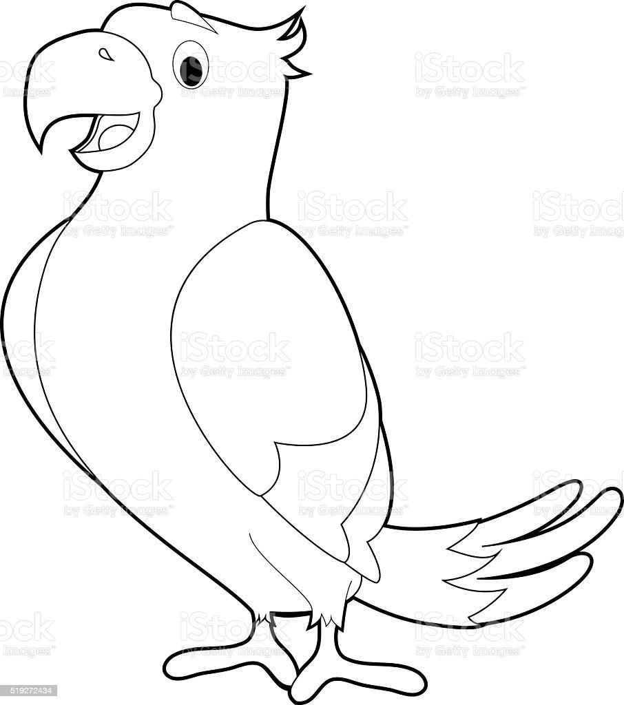 Coloriage Animaux Facile Pour Les Enfants Perroquet Vecteurs Libres De Droits Et Plus D Images Vectorielles De Aile D Animal Istock