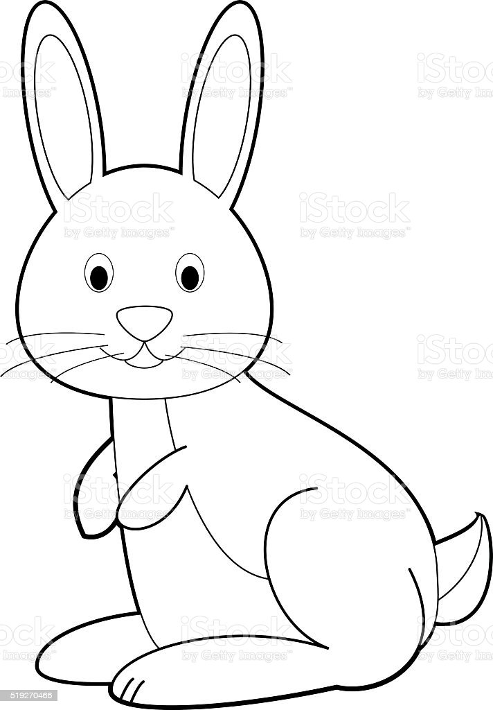ilustração de fácil de colorir animais para crianças coelho e mais
