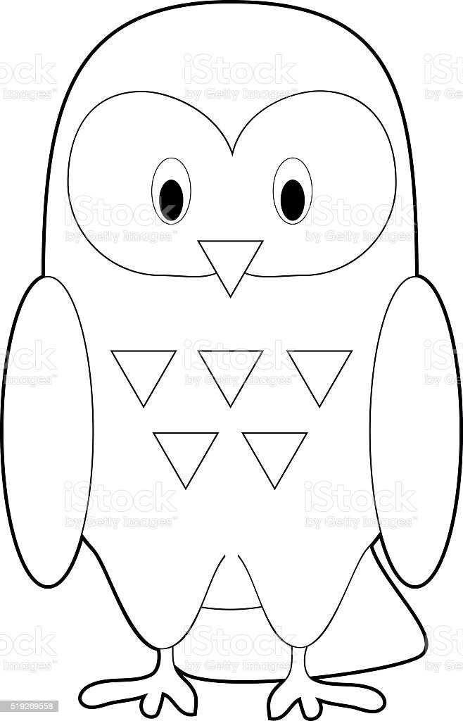 easy coloring animals for kids snowy owl stock vector art more One Dollar Bill 1953 easy coloring animals for kids snowy owl royalty free easy coloring animals for kids