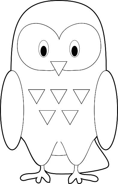 Best Simple Owl Drawings Illustrations, Royalty-Free