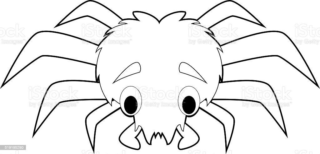 Arañas De Halloween Para Colorear: Fácil Los Animales Para Colorear Con Los Niños Araña
