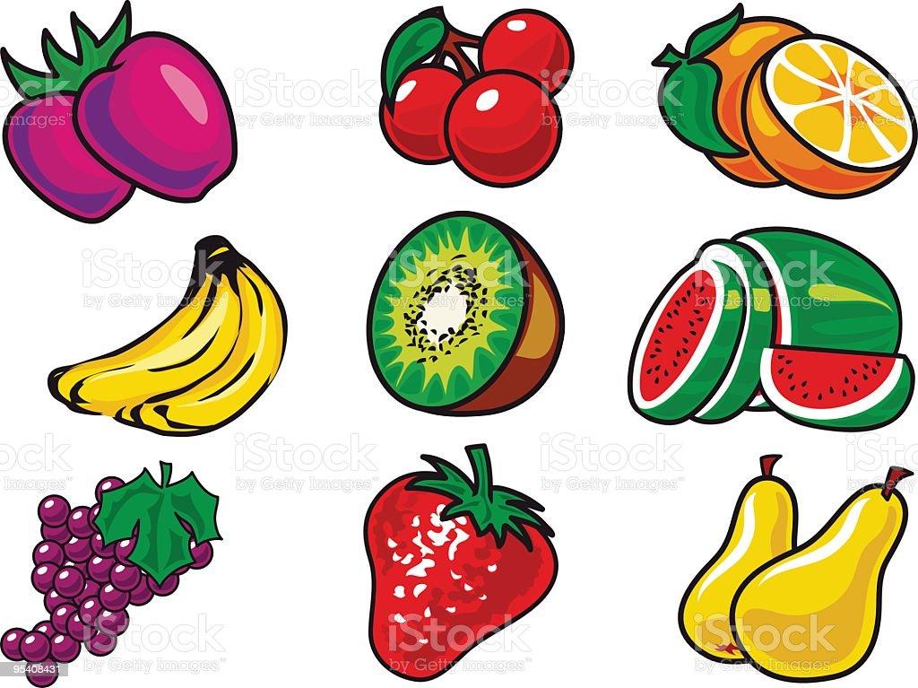 Leicht Früchte set Lizenzfreies leicht früchte set stock vektor art und mehr bilder von banane