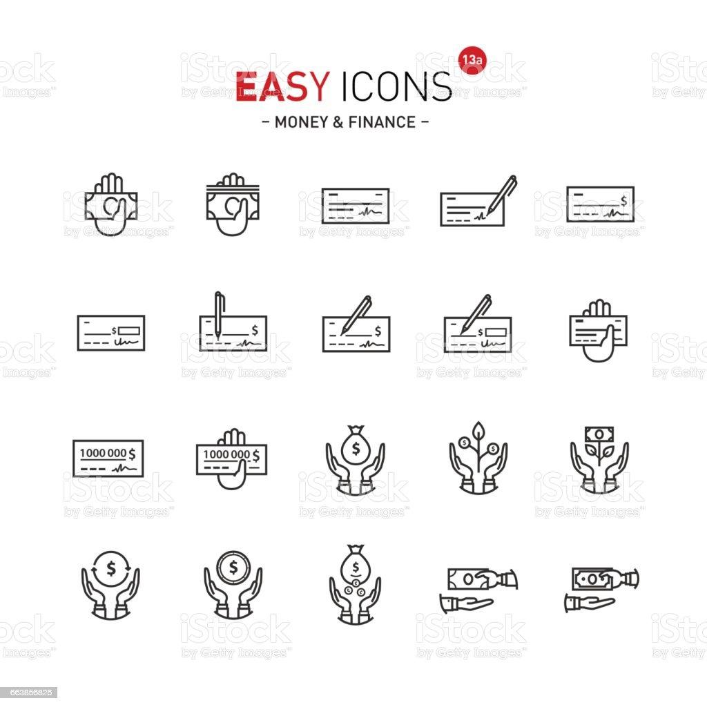 Einfache Symbole 13a Geld Stock Vektor Art und mehr Bilder von ...