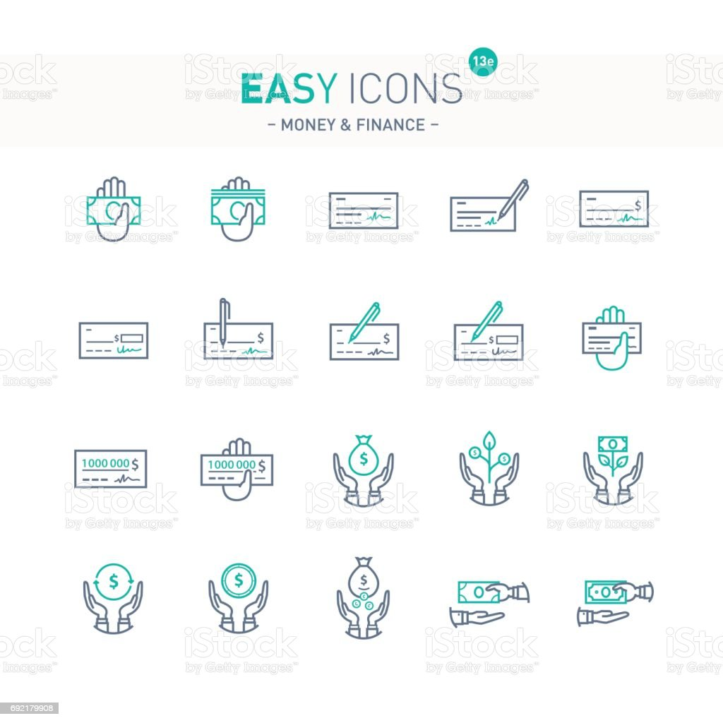 Easy icons 13e Money vector art illustration