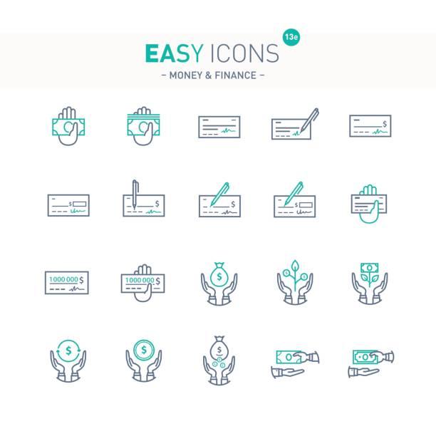Easy icons 13e Money vector art illustration