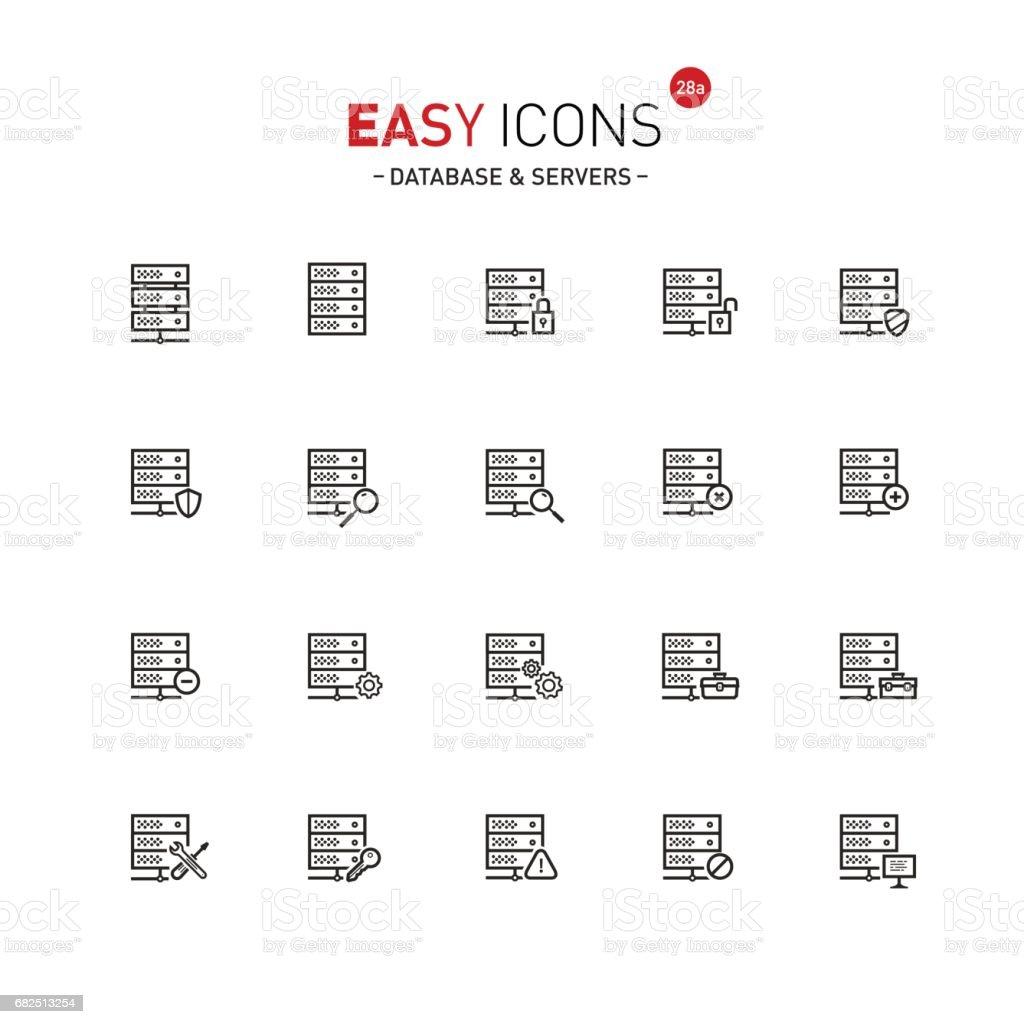 Einfache Symbole 28a Datenbank Lizenzfreies einfache symbole 28a datenbank stock vektor art und mehr bilder von additionstaste