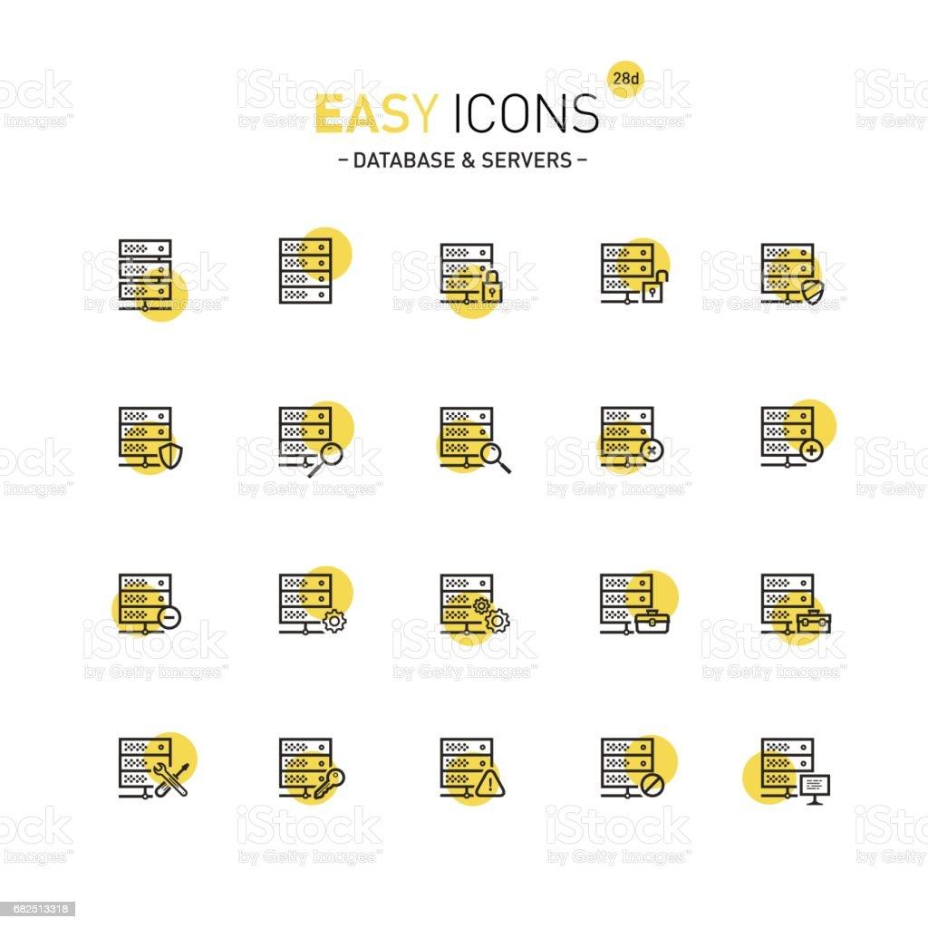 Einfache Symbole 28D Datenbank Lizenzfreies einfache symbole 28d datenbank stock vektor art und mehr bilder von additionstaste