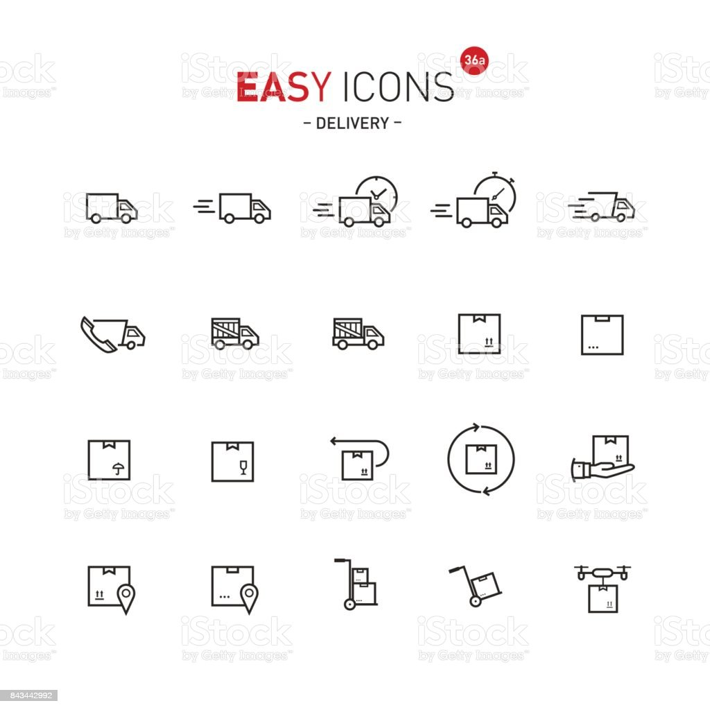 Easy icons 36a Delivery vector art illustration