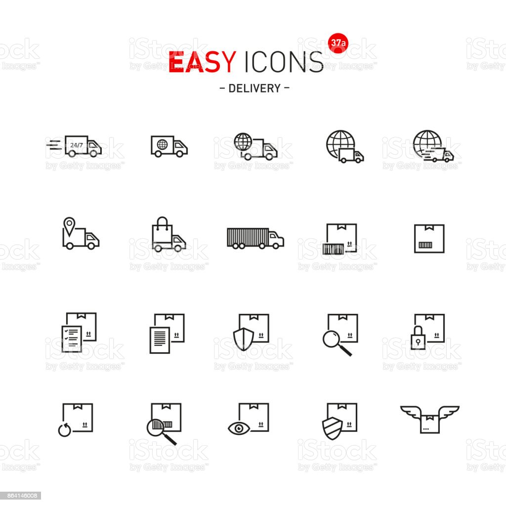Easy icons 37a Delivery royalty-free easy icons 37a delivery stock vector art & more images of animal body part