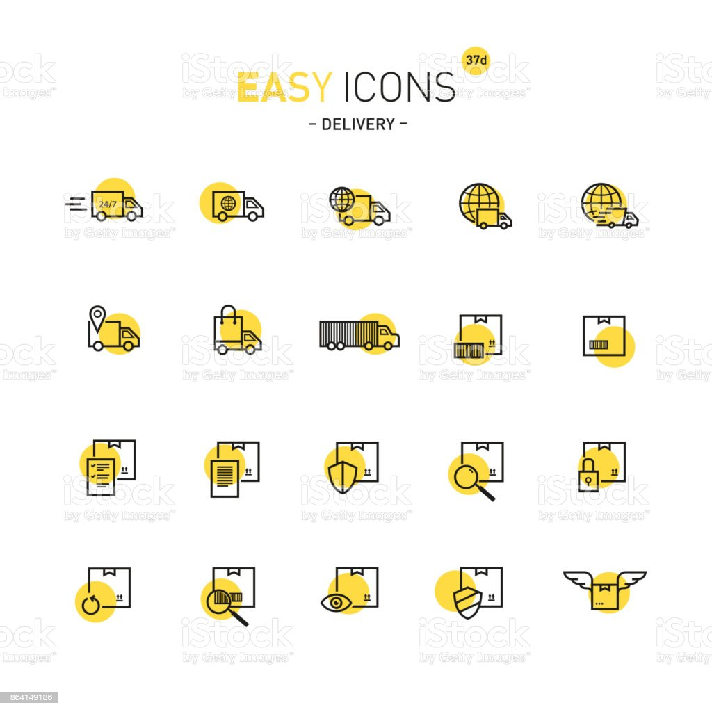 Easy icons 37d Delivery royalty-free easy icons 37d delivery stock vector art & more images of animal body part