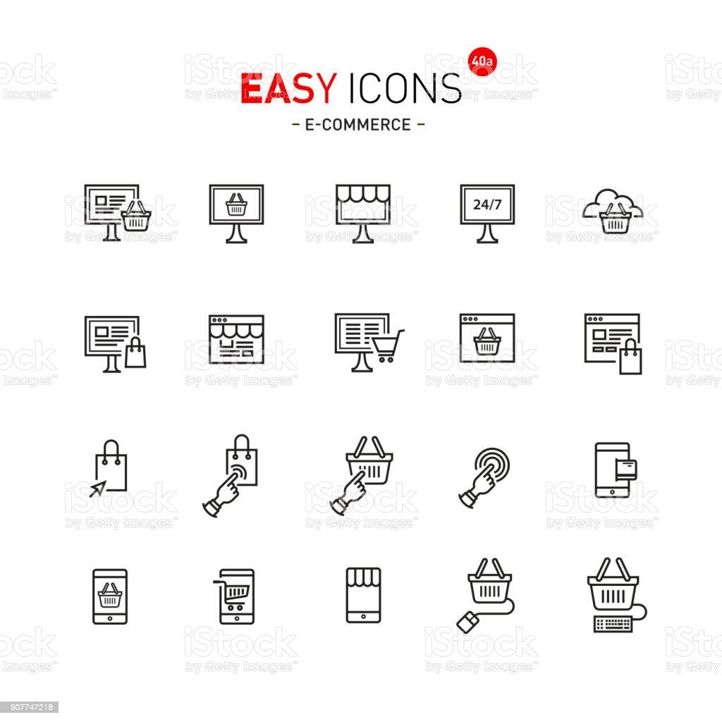 Einfache Symbole 40a Dateiformate Stock Vektor Art und mehr Bilder ...