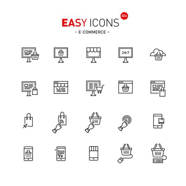 illustrazioni stock, clip art, cartoni animati e icone di tendenza di easy icons 40a file formats - facilità