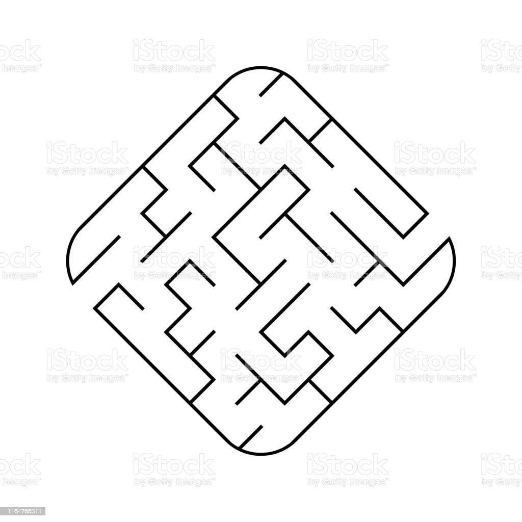 簡単な迷路子供のためのゲーム子供のためのパズルラビリンスの難問ベクトルイラスト イラストレーションのベクターアート素材や画像を多数ご用意 Istock