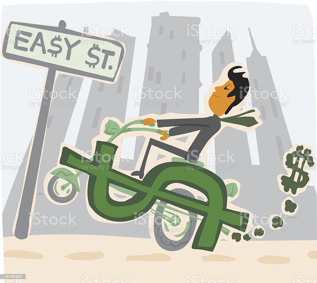 Easy Street royalty-free stock vector art