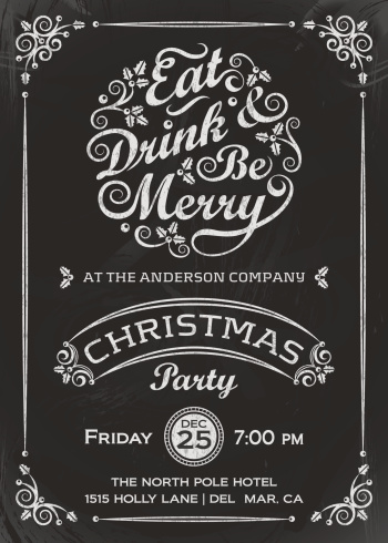 Eat, Drink, and Be Merry Invitation