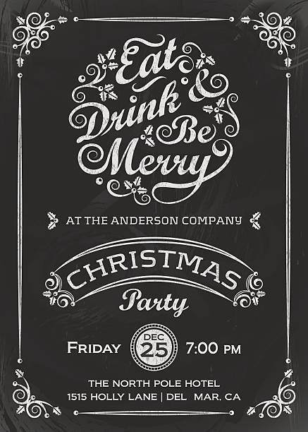 eat, drink, and be merry invitation - refreshment stock illustrations, clip art, cartoons, & icons