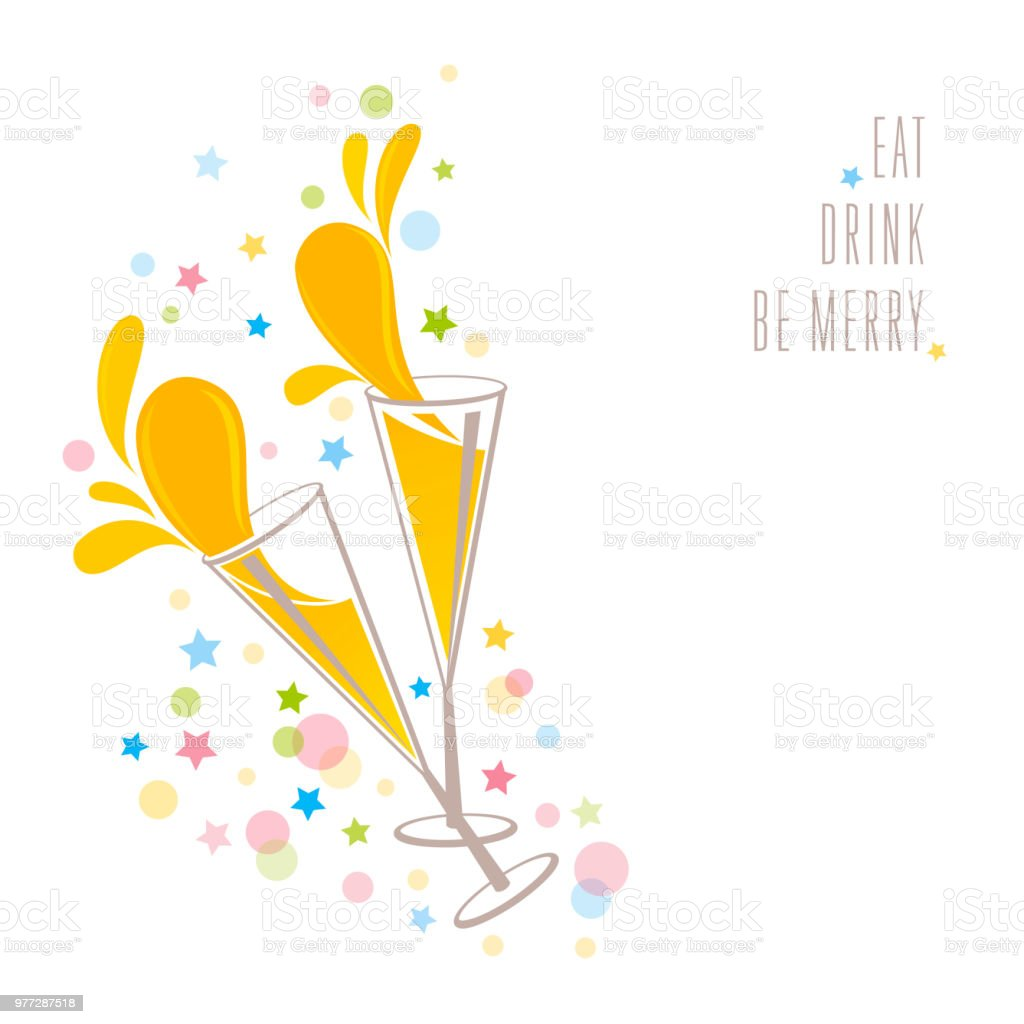 Eat, Drink, be Merry vector art illustration