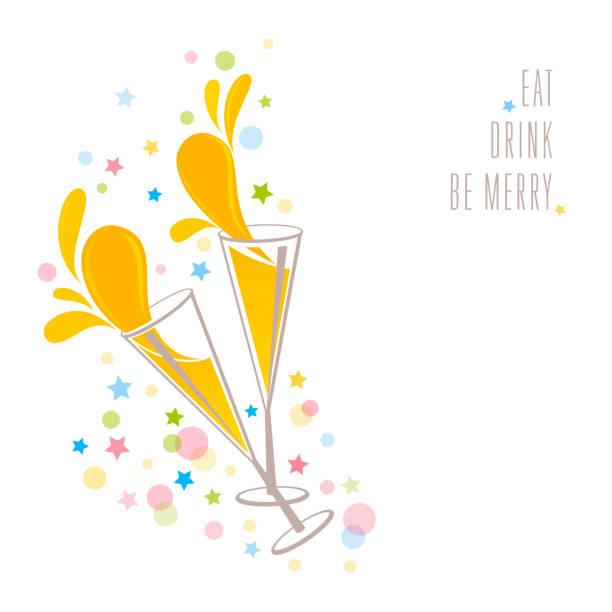 Eat, Drink, be Merry vector art illustration