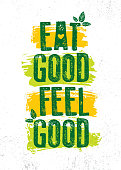 istock Eat Good Feel Good. Nutrition Healthy Food Motivation Poster Template. 1205483743