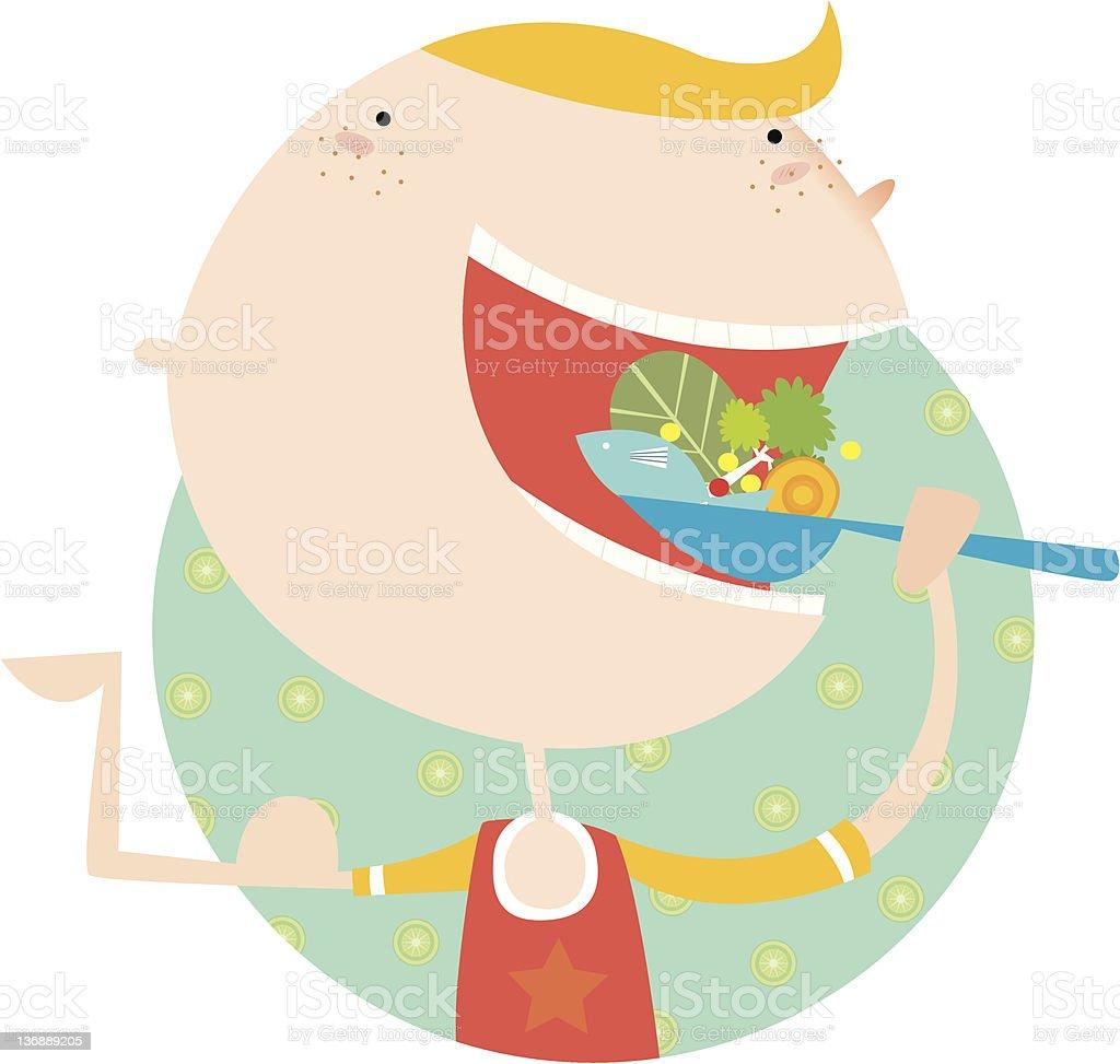 eat healthy! royalty-free stock vector art
