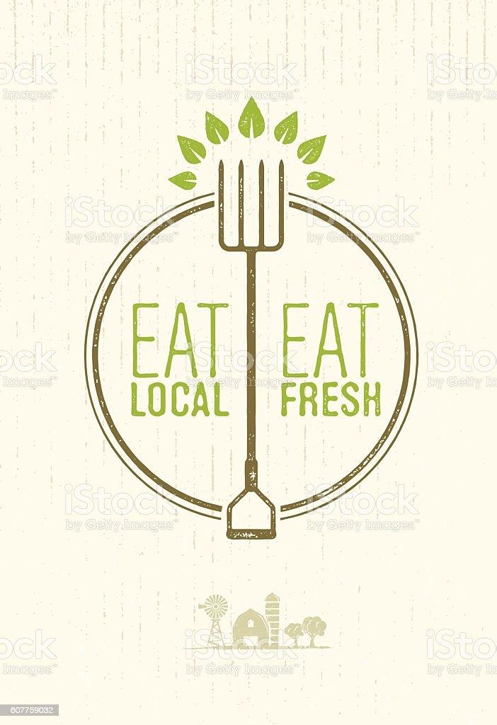 eat local eat fresh village market healthy food concept アイデアの