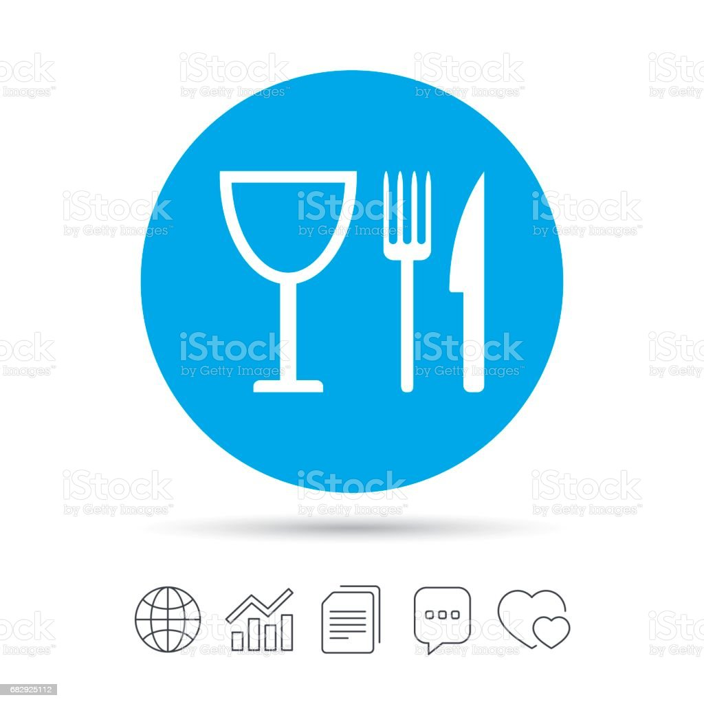 Eat sign icon. Knife, fork and wineglass. royalty-free eat sign icon knife fork and wineglass stock vector art & more images of art