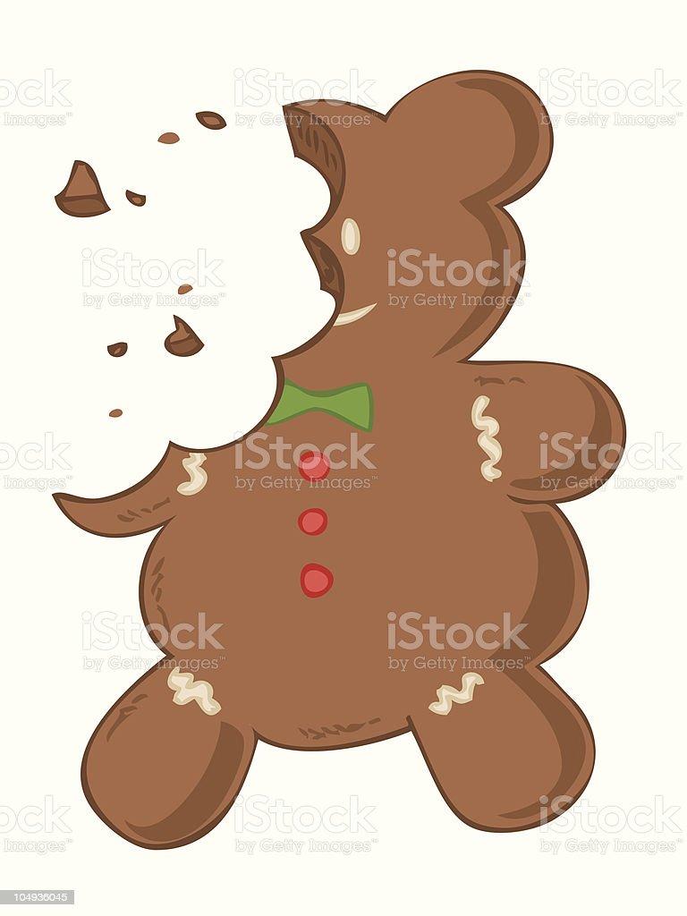 Eaten gingerbread. vector art illustration