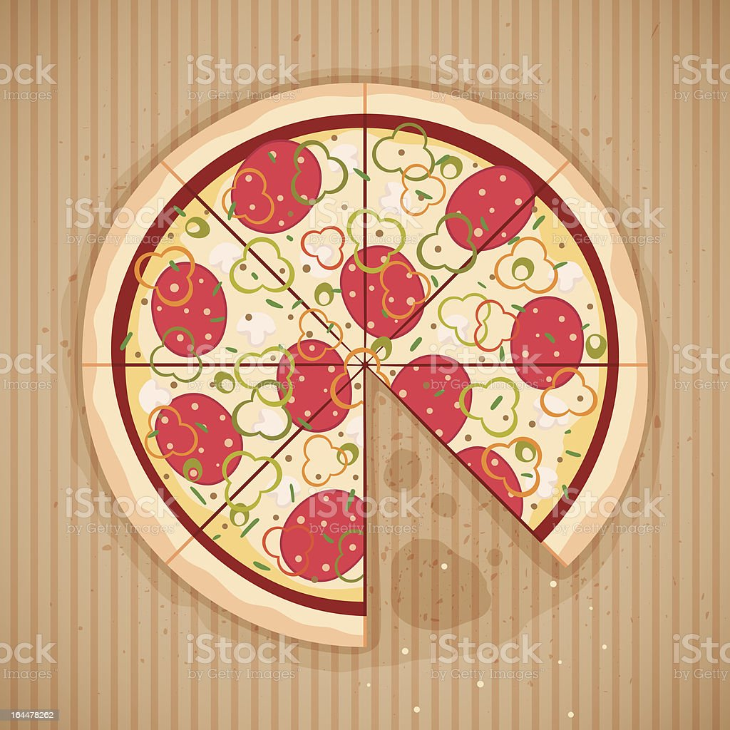 Eaten pizza royalty-free stock vector art