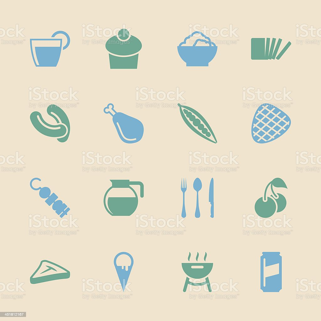 Eating Icons Set 3 - Color Series | EPS10 royalty-free stock vector art