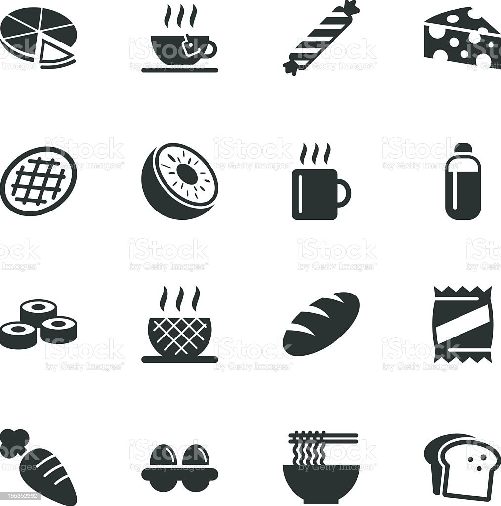 Eating Silhouette Icons | Set 2 royalty-free stock vector art