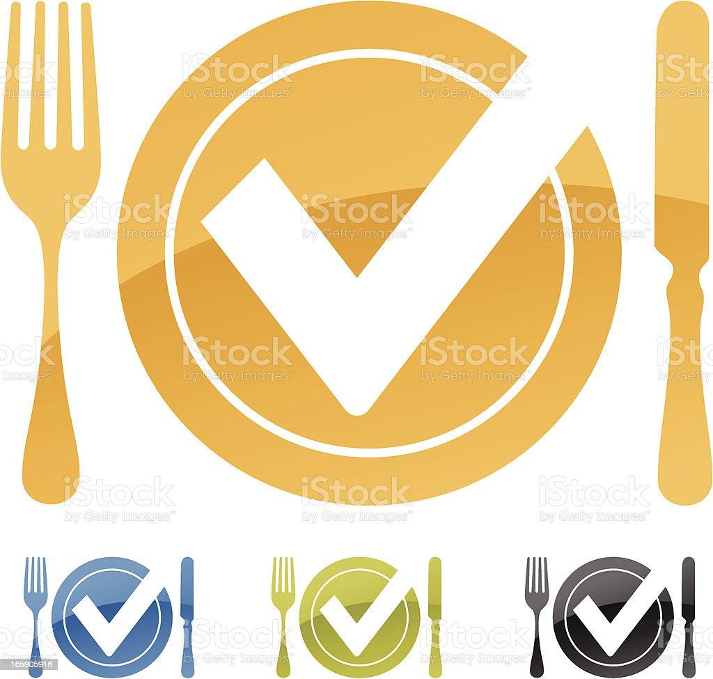 Eating Symbol vector art illustration