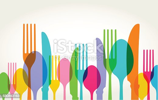 Eating Utensils in transparent silhouette style. Best in GRB, eps 10 file with CS3 and CS5 in zip.