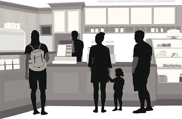 のお食事 - 小売販売員点のイラスト素材/クリップアート素材/マンガ素材/アイコン素材