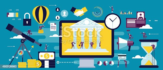 istock e-banking, online business communication 495508660