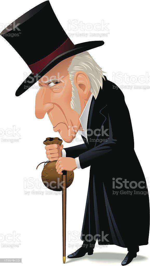 Ebeneezer Scrooge royalty-free stock vector art