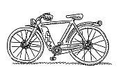 E-Bike Side View Drawing