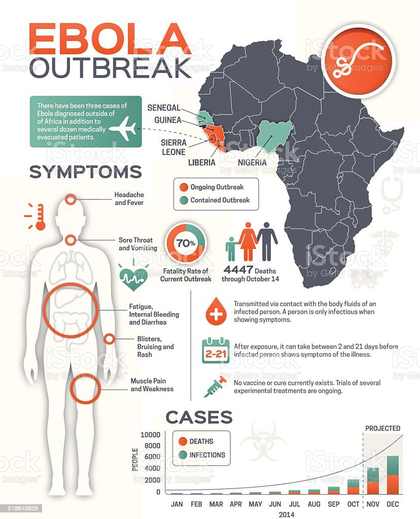 Ebola Outbreak Infographic vector art illustration