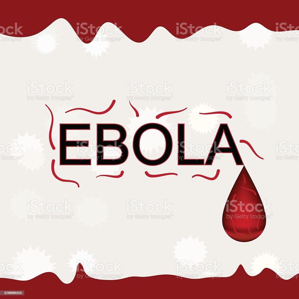 エボラ出血熱ワードウィルス血流背景ベクトルイラスト のイラスト素材