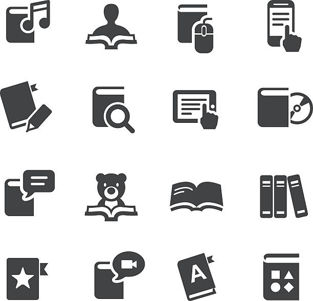 eBook and Literature Icons - Acme Series View All: encyclopaedia stock illustrations