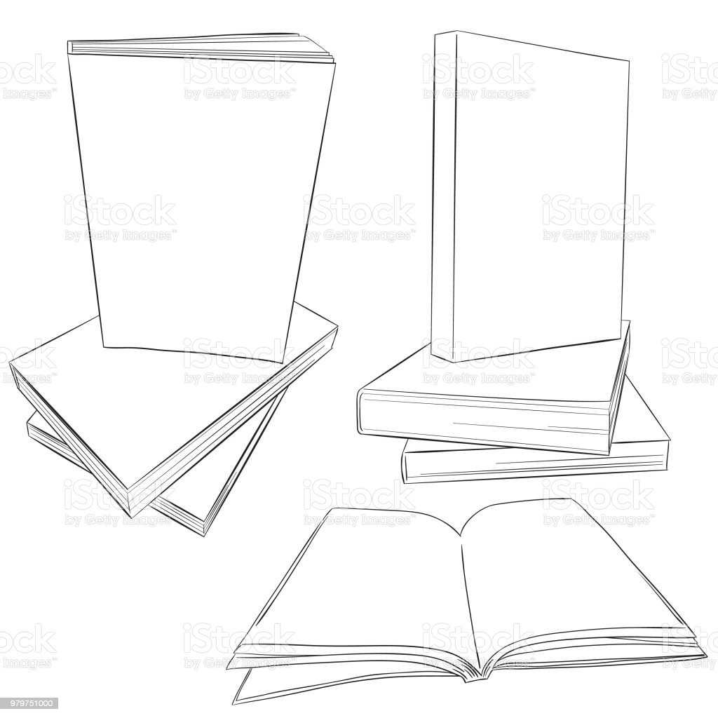 Ebook cover blank mock up template black line art stock vector art ebook cover blank mock up template black line art royalty free ebook cover blank mock maxwellsz