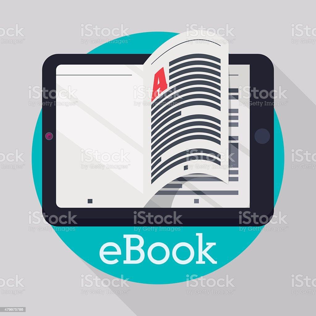 Ebook design. vector art illustration