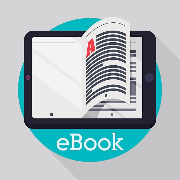 Ebook design. Ebook digital design, vector illustration eps 10. e reader stock illustrations