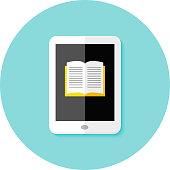 Ebook Flat Circle Icon