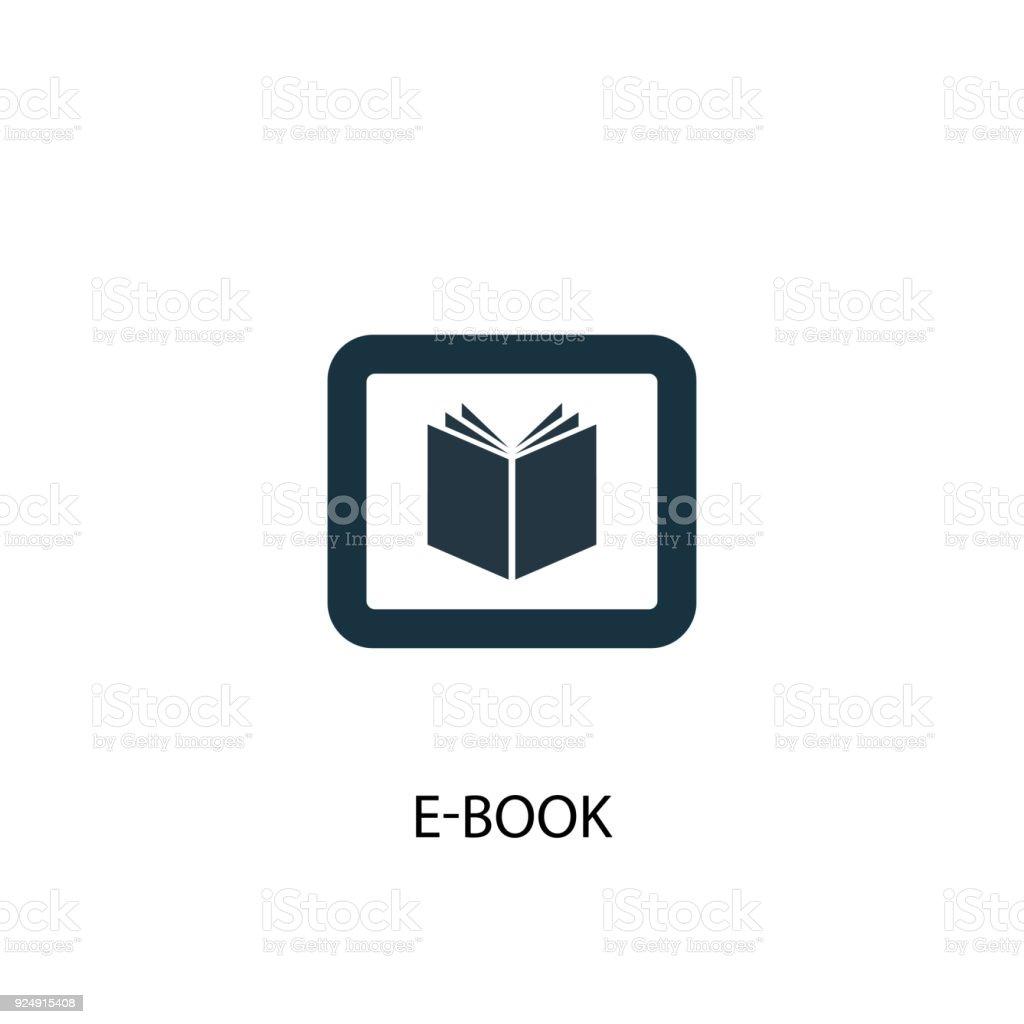 e-Book icon. Simple element illustration vector art illustration
